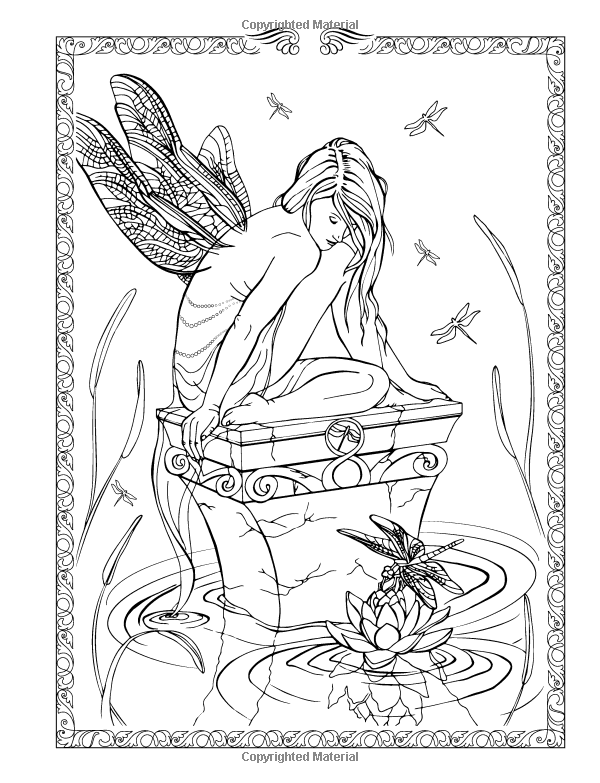 Spirit Fantasy Coloring Book Black White Edition Amazon Co Uk