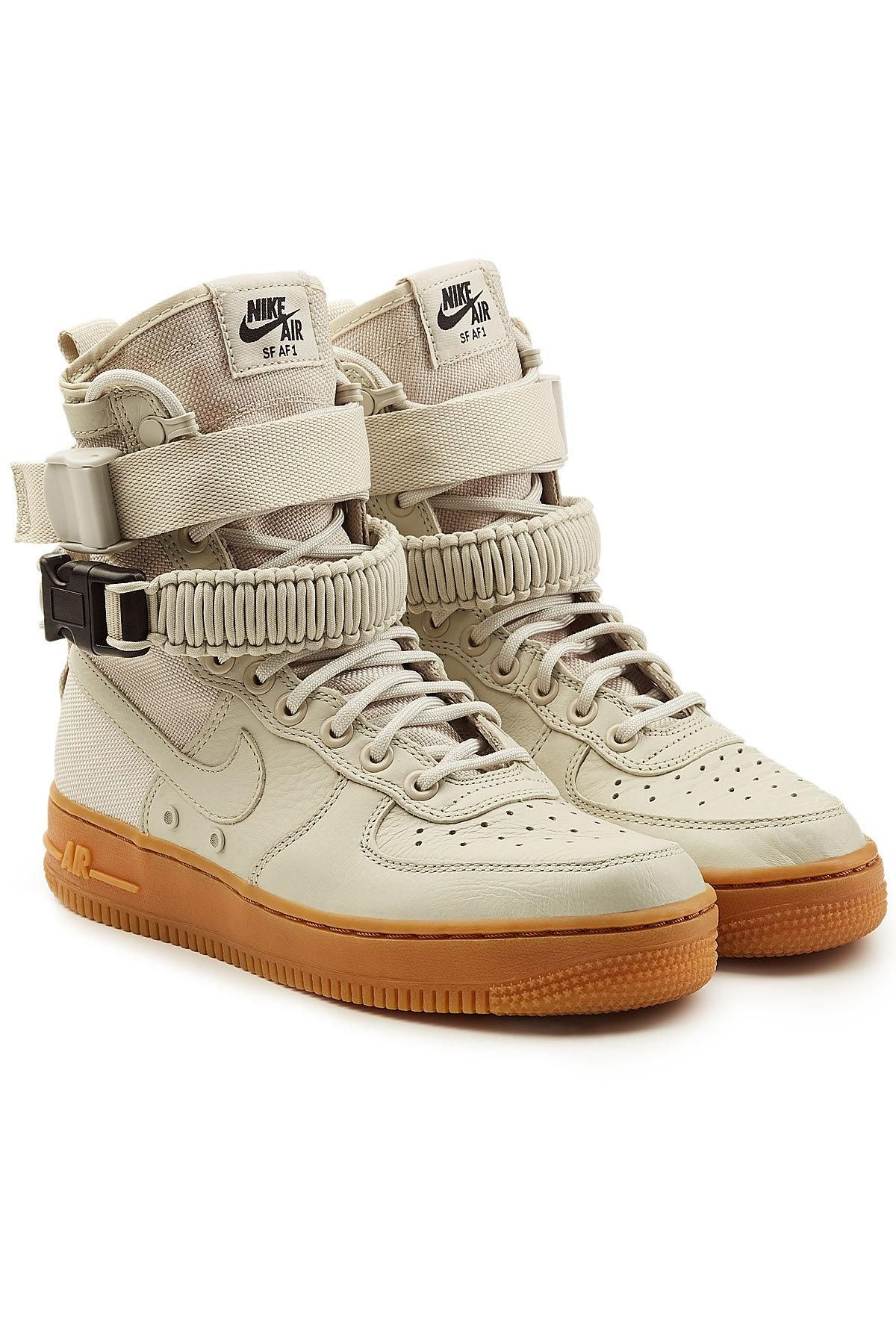 sale retailer 35a69 617f2 #xmas #Christmas #STYLEBOP.com (FR/NL/IT) - #Nike Nike SF Air Force 1 High  Top Sneakers with Leather - AdoreWe.com