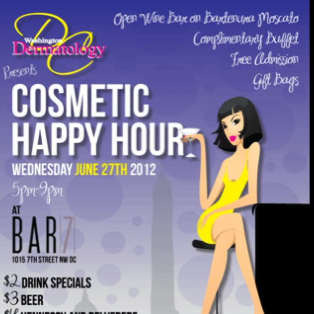 Cosmetic Dermatology event Flyer design by wwwdistrictwebdesign - event flyer examples