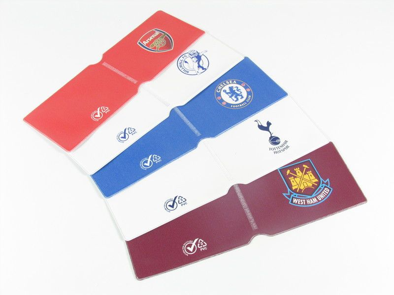 football team oyster card wallet dimensions 210mm x 70mm