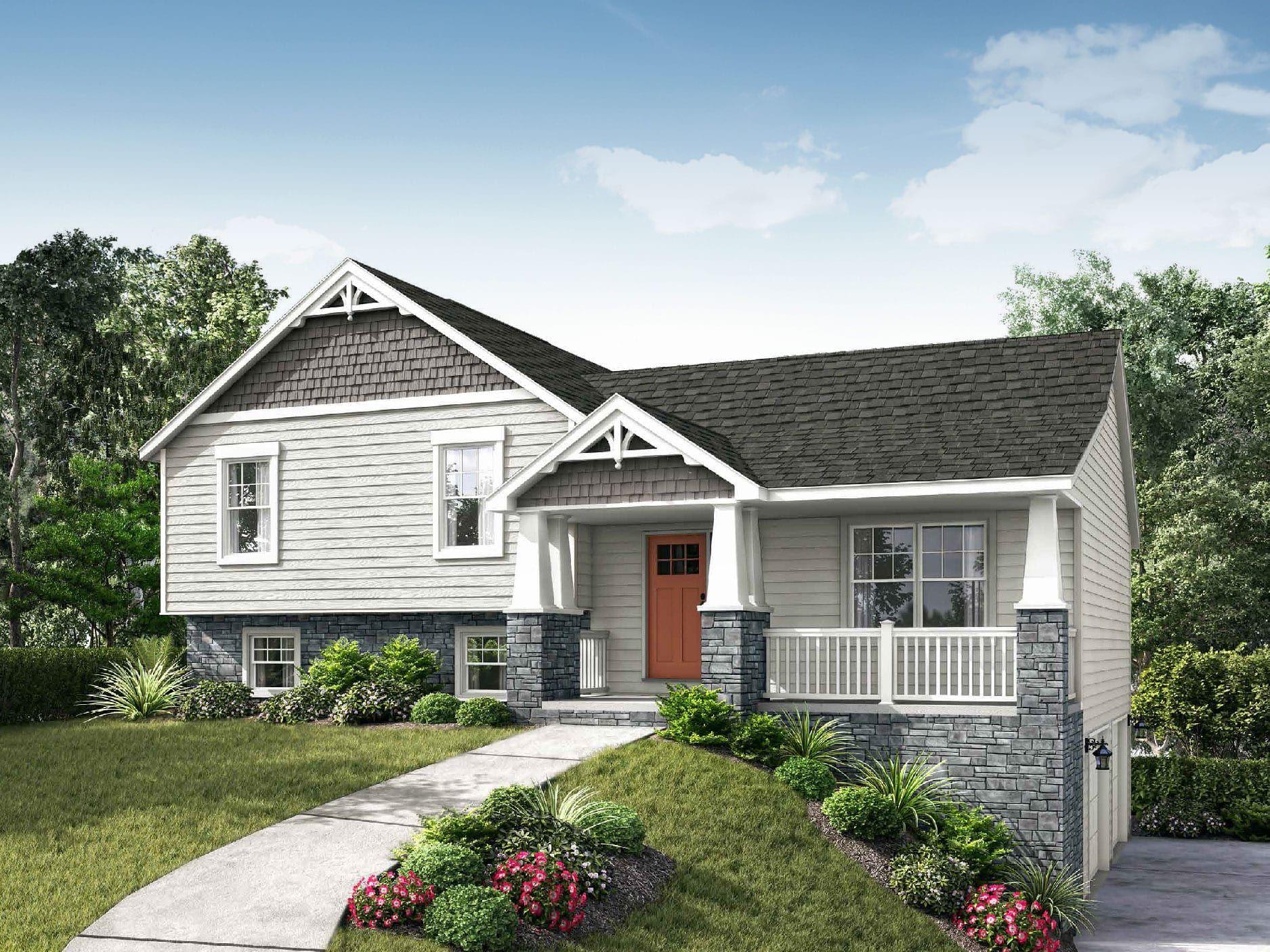 Lexington II Floor Plan SplitLevel Custom Home Sloping