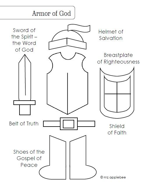 Armor Of God Coloring Page Armor Of God Super Coloring Pages