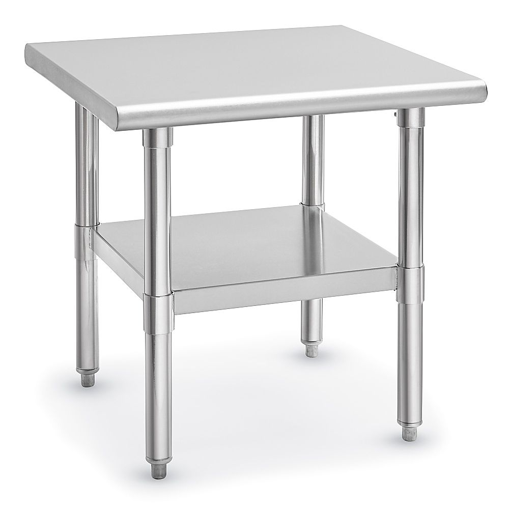 Deluxe Stainless Steel Utility Stand 24 X 24 H 6922 Uline Small Kitchen Solutions Stainless Stainless Steel