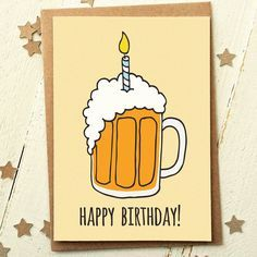 Freund Geburtstag Karte - lustige Geburtstag Karte - Karte für Freund - Geburtstag Karte Dad - Freund Geburtstagskarte - Bier-Geburtstagskarte