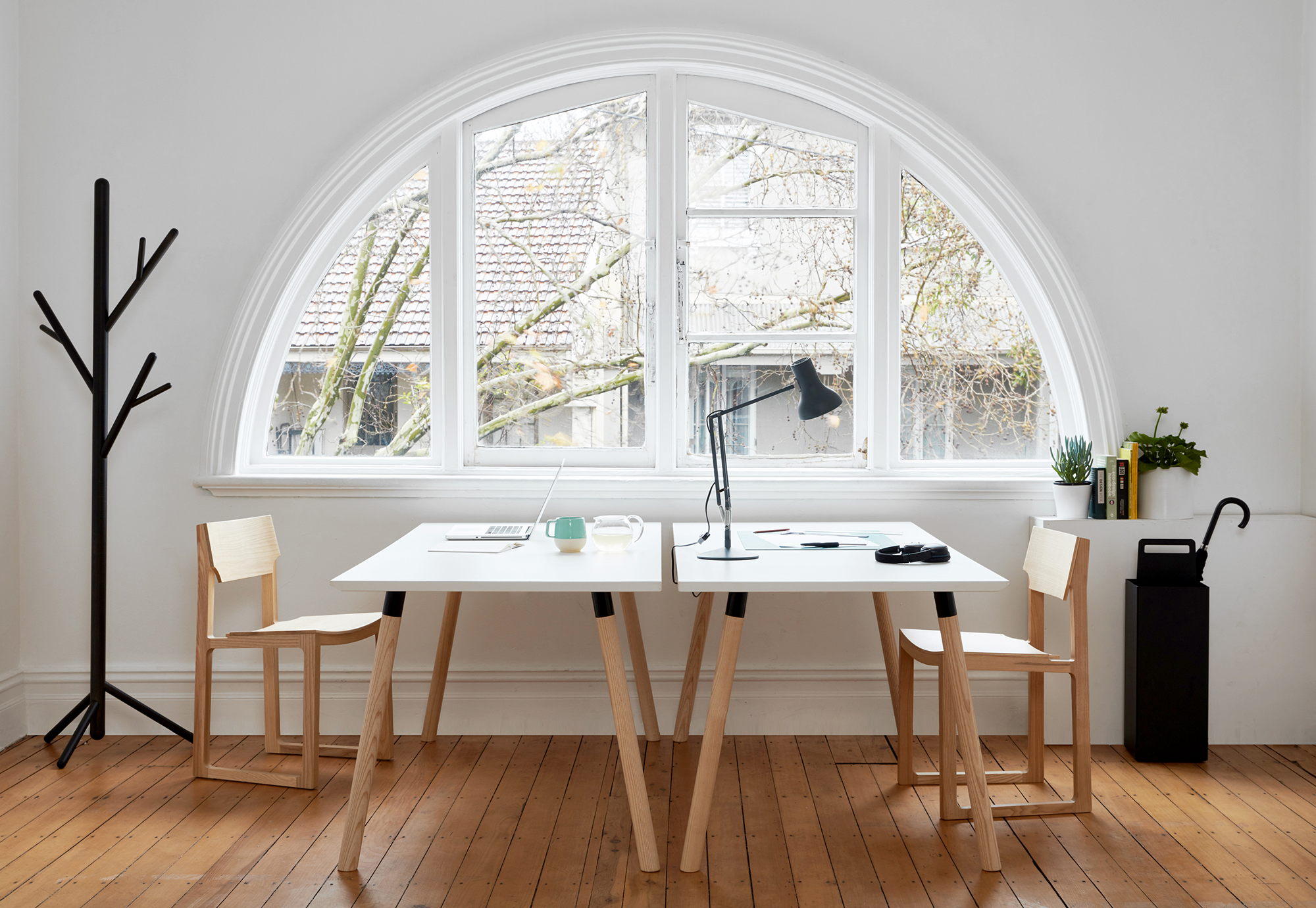 Partridge Desk Bedside Table Design Laminate Table Top White