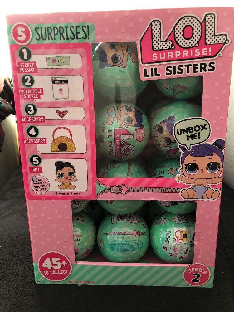 2 Ball Lot LOL SURPRISE BLING Doll Holiday Big Sister Series 1 NEW Free Ship