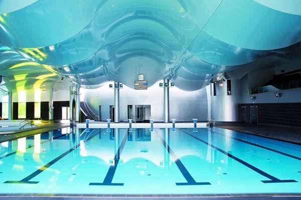 Sci fi pool pavilions modern architecture architecture for Pool design center