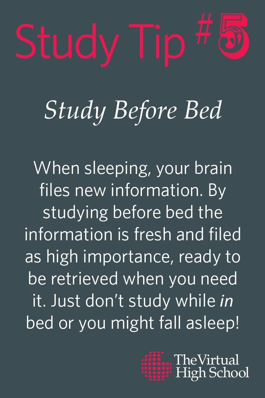 Study Tips to help you better prepare and comprehend