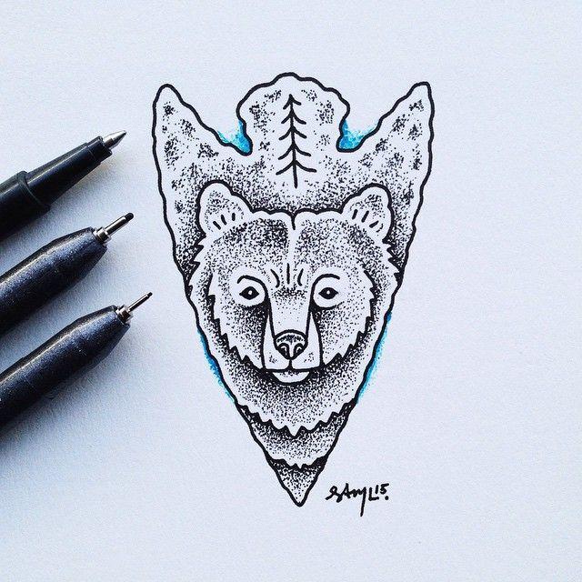 arrowheads are still my favorite thing to draw bear arrowhead illustration art pinterest. Black Bedroom Furniture Sets. Home Design Ideas