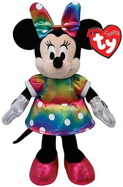 301155f5b1d Tie-Dye Sparkle Minnie Mouse Beanie Baby