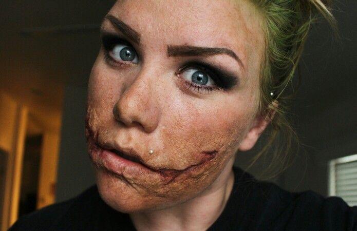 How To Make Joker Scars Makeup