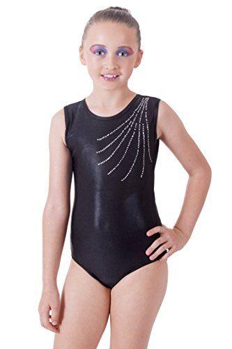 63c04a0e7 Vincenza Dancewear Black Classic Girls Gymnastics Leotard