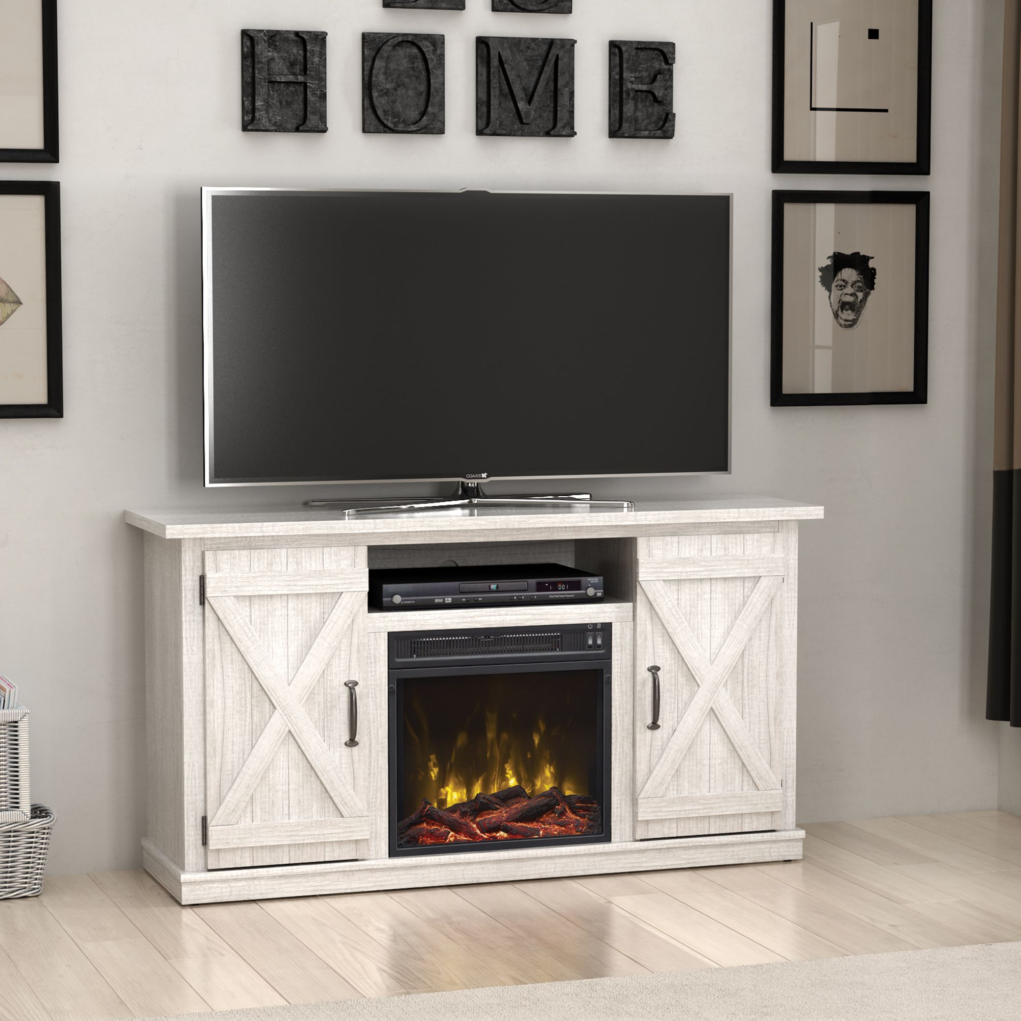 Home in 2020 Electric fireplace, Fireplace tv stand