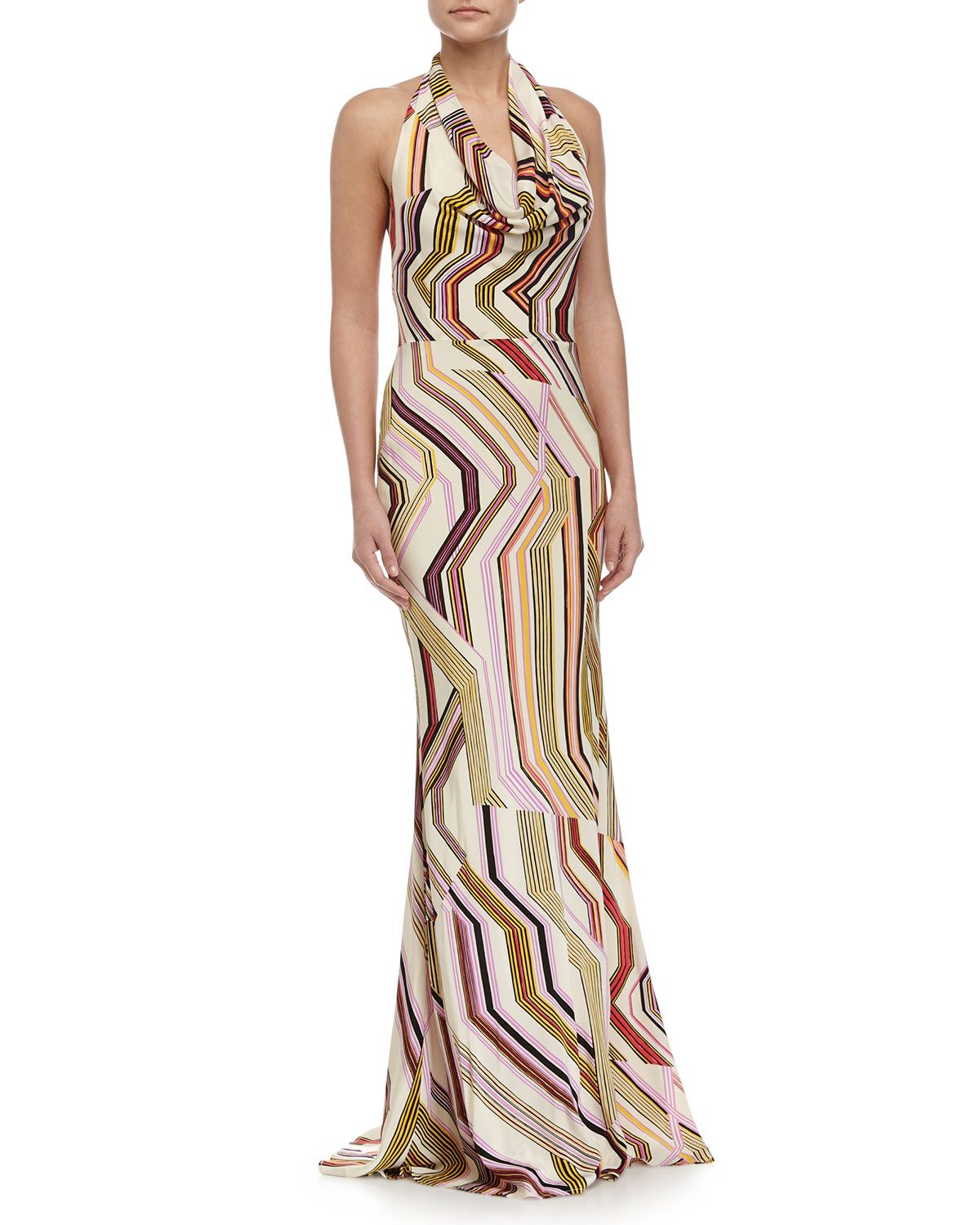 Neiman marcus dresses for weddings  Carolina Herrera GeometricPrint Mermaid Gown Multi Colors Womenus