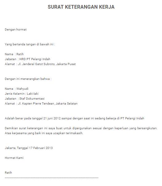 Contoh Surat Pengalaman Kerja Http Contohsuratlamarankerjajakarta Blogspot Com 2018 03 Contoh Surat Pengalaman Kerja Yang Baik Benar Ht Surat Tanggal Pelangi