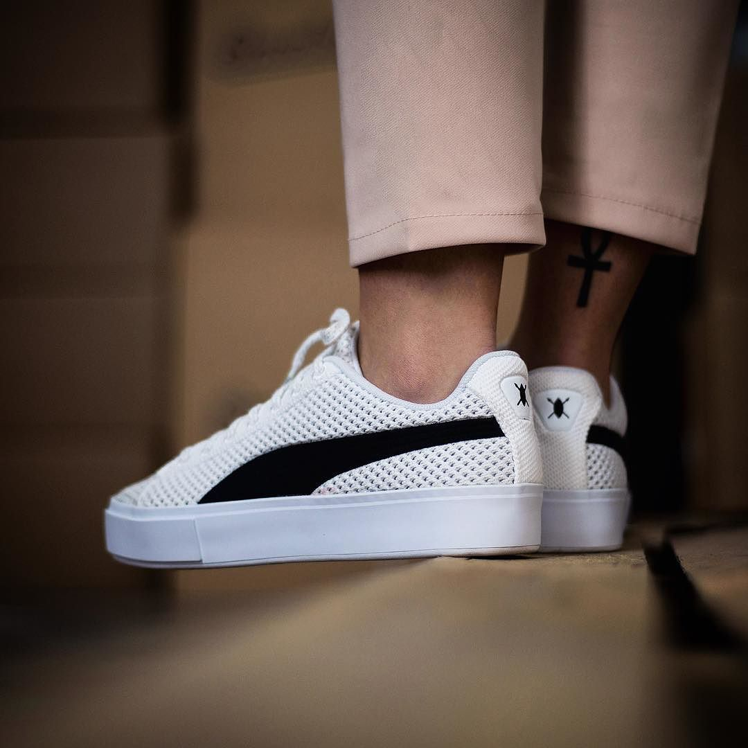 Puma X Daily Paper Court Platform Knit  Sneakers Store Online Link In Bio