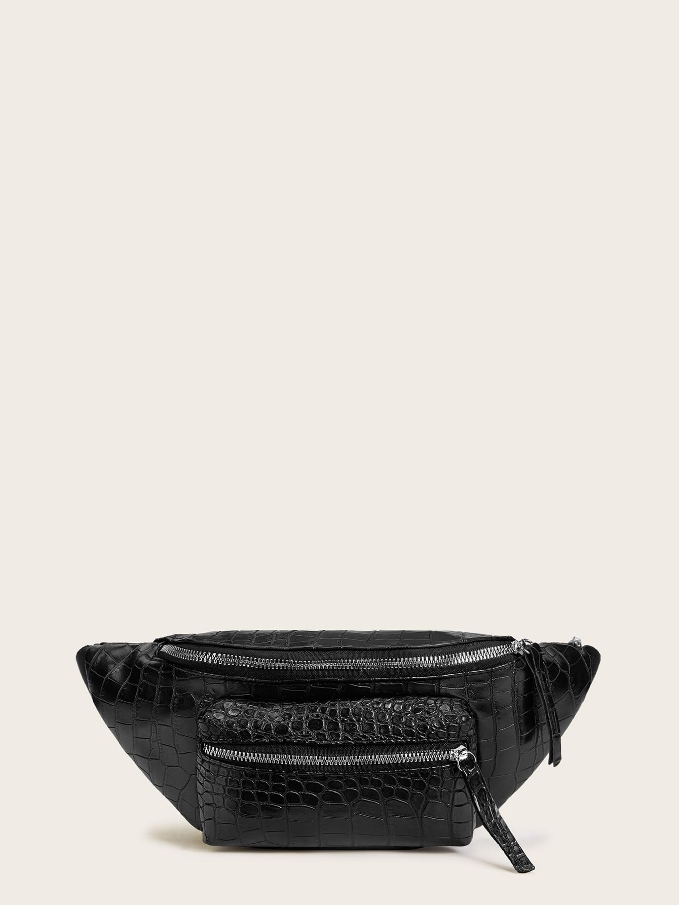 MANDARINA DUCK Mellow Leather Crossover Bag M Schultertasche Umhängetasche Nero