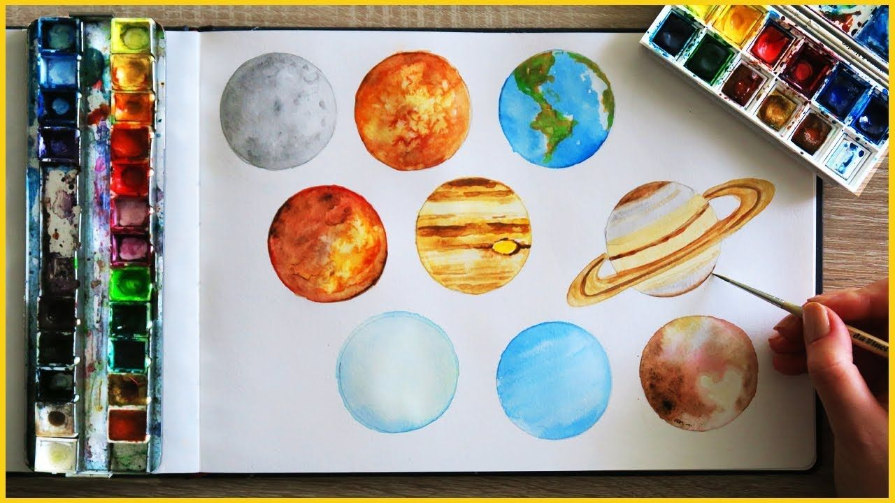 How To Paint Planets With Watercolor Art Journal Thursday Ep 15