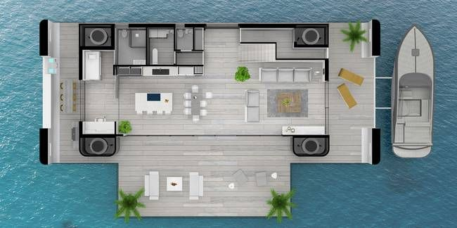 Ride Out Climate Change And Rising Waters In Your Arkup Floating Home Floating House House Design Floating
