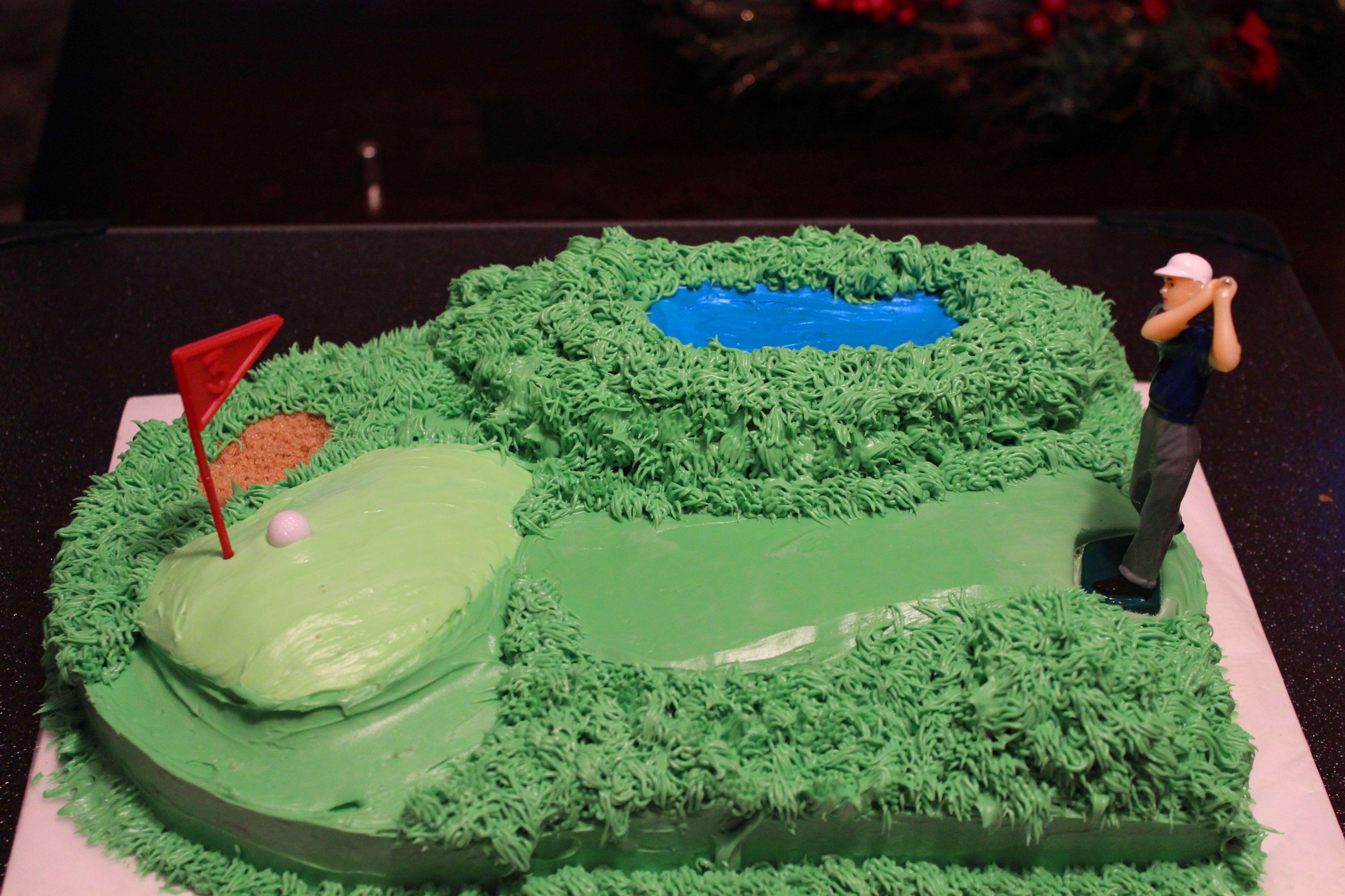 Golf Cake Idea I Made For My Husband S 31st Birthday Golf Cake
