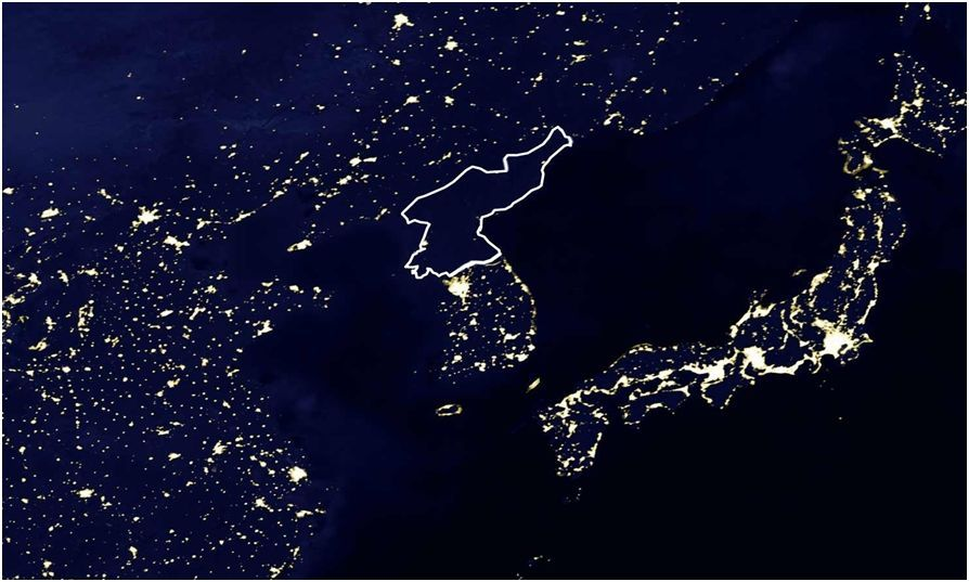 This Is A Satellite Picture Taken At Night Of The Closed Communist - World satellite night view