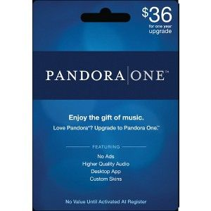 Year of ad-free Pandora music App - $36 Gift Card at Target (in ...