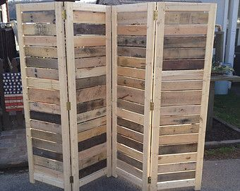 Handmade Room Divider Movable Wall Antique Wood Pinterest
