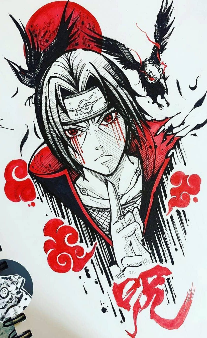 How To Draw Anime Learn To Do Anime Drawings Images And Ideas Page 6 Of 44 Drawingsday Com Best Drawing Blog Itachi Uchiha Tatuagem Do Naruto Tatuagens De Anime