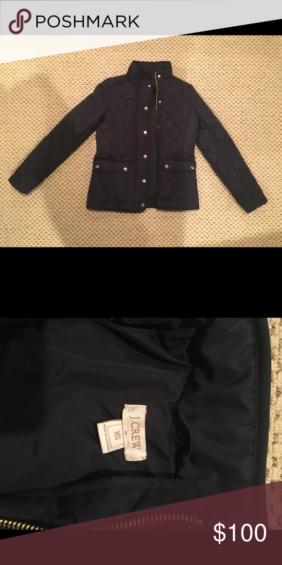 Womens Jcrew Navy Quilted Jacket Navy Quilt Quilted Jacket And Navy