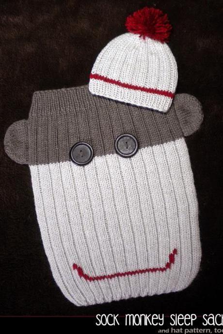 Sock Monkey Sleep Sack Knitting Pattern Loom Knitarmfinger