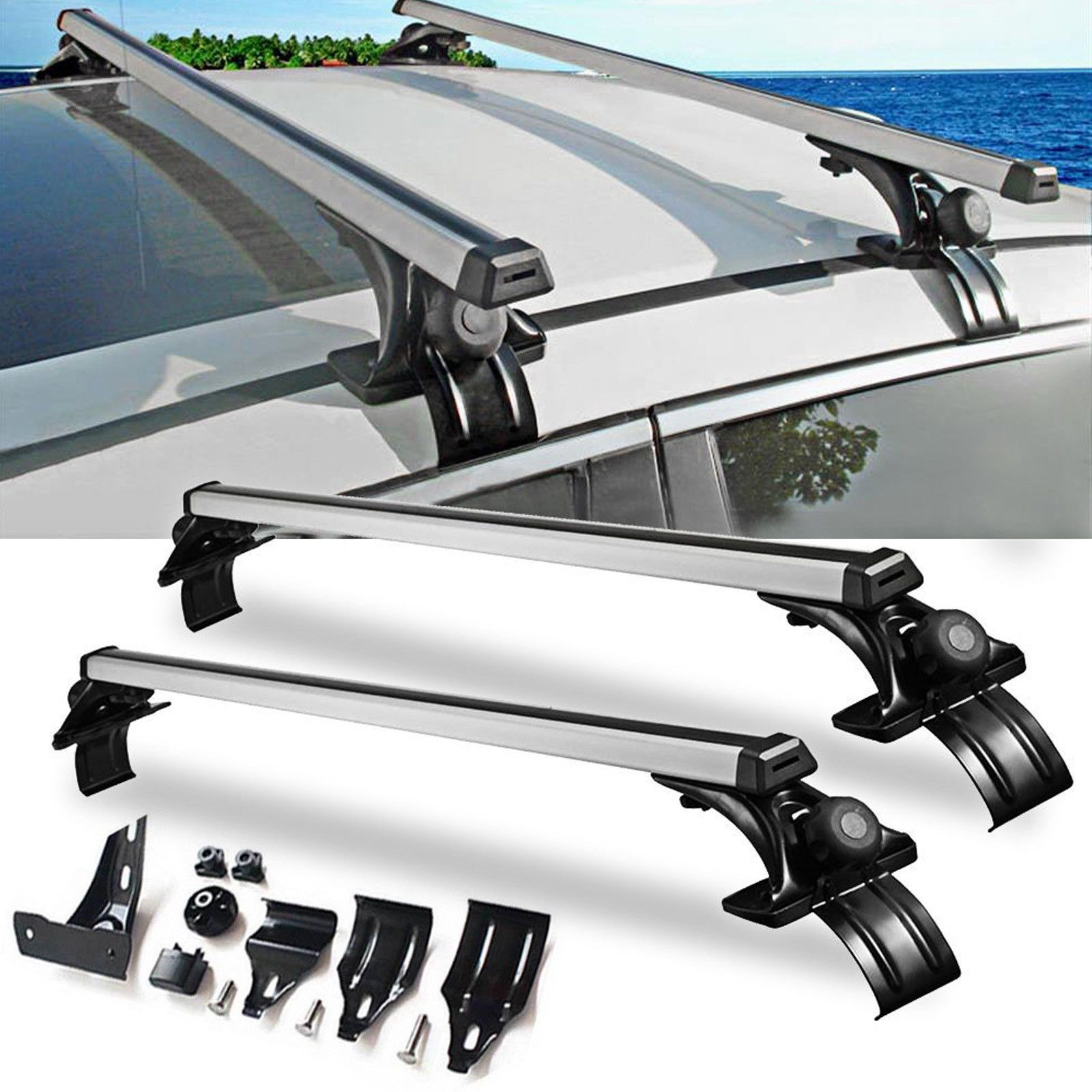 Details About Universal Car Top Roof Cross Bar Luggage Cargo