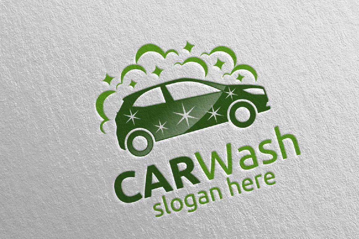 Car Wash Logo, Cleaning Car, Washing and Service Logo 16