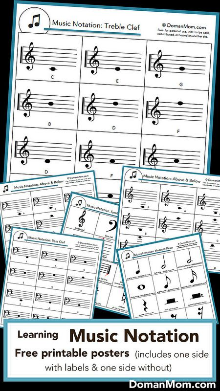 Free Printable Music Notation Posters Music Theory Worksheets