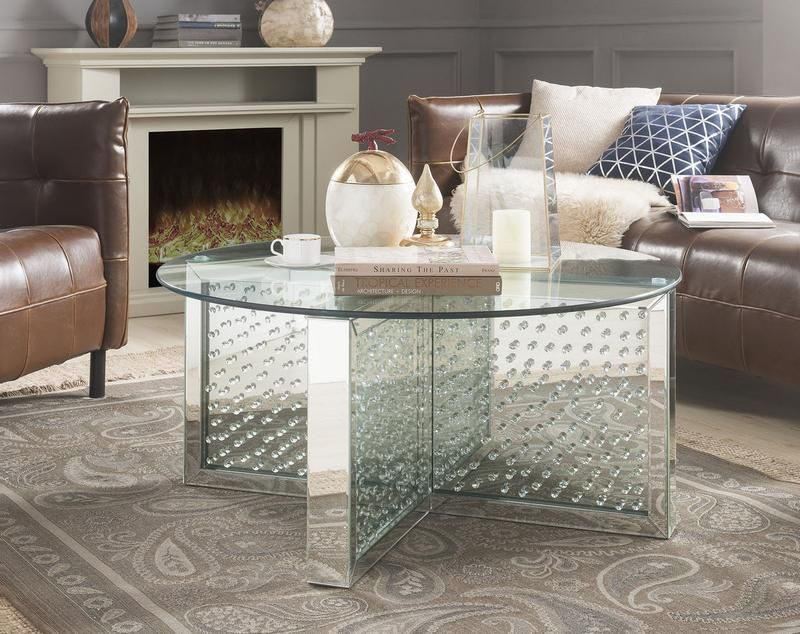 Acme Nysa Coffee Table Coffee Table Round Coffee Table