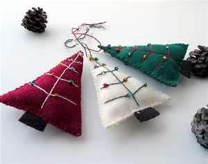 Christmas tree felt ornaments