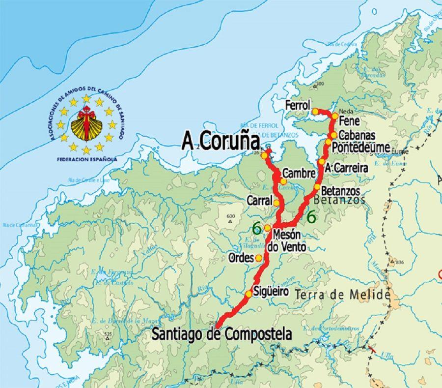 El Camino Ingles Parte De Ferrol O A Coruna Matkailu