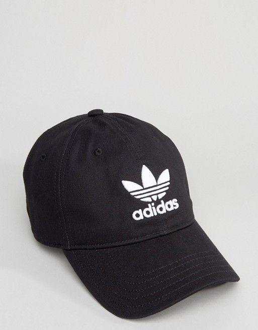 adidas Originals Trefoil Cap In Black BK7277  20 10d4266dfbb