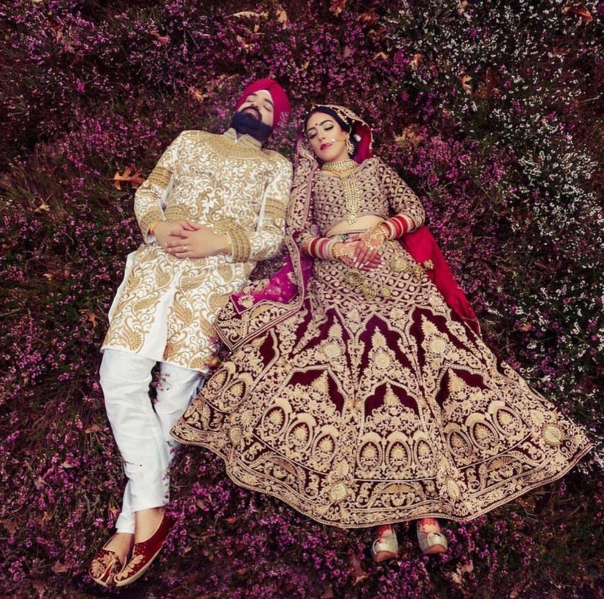 Excelente Trajes De Boda Sikh Embellecimiento - Ideas de Estilos de ...