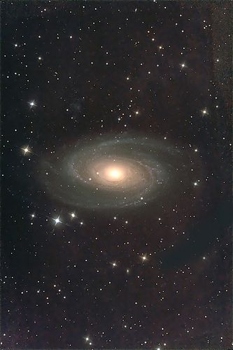 Integrated flux nebula around M81
