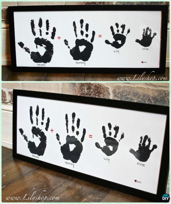 Photo of DIY handprint craft gift ideas that anyone can make