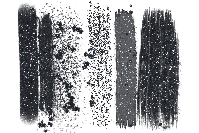 Black Glitter Brush Strokes Png Clip Art Glitter Clip Art 433349 Illustrations Design Bundles Brush Stroke Png Black Glitter Brush Strokes