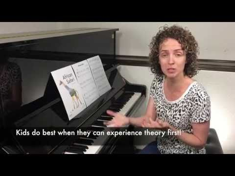 African Safari - Reading and Rote Piano Piece - YouTube Great song, and she does an excellent job explaining how to teach it!