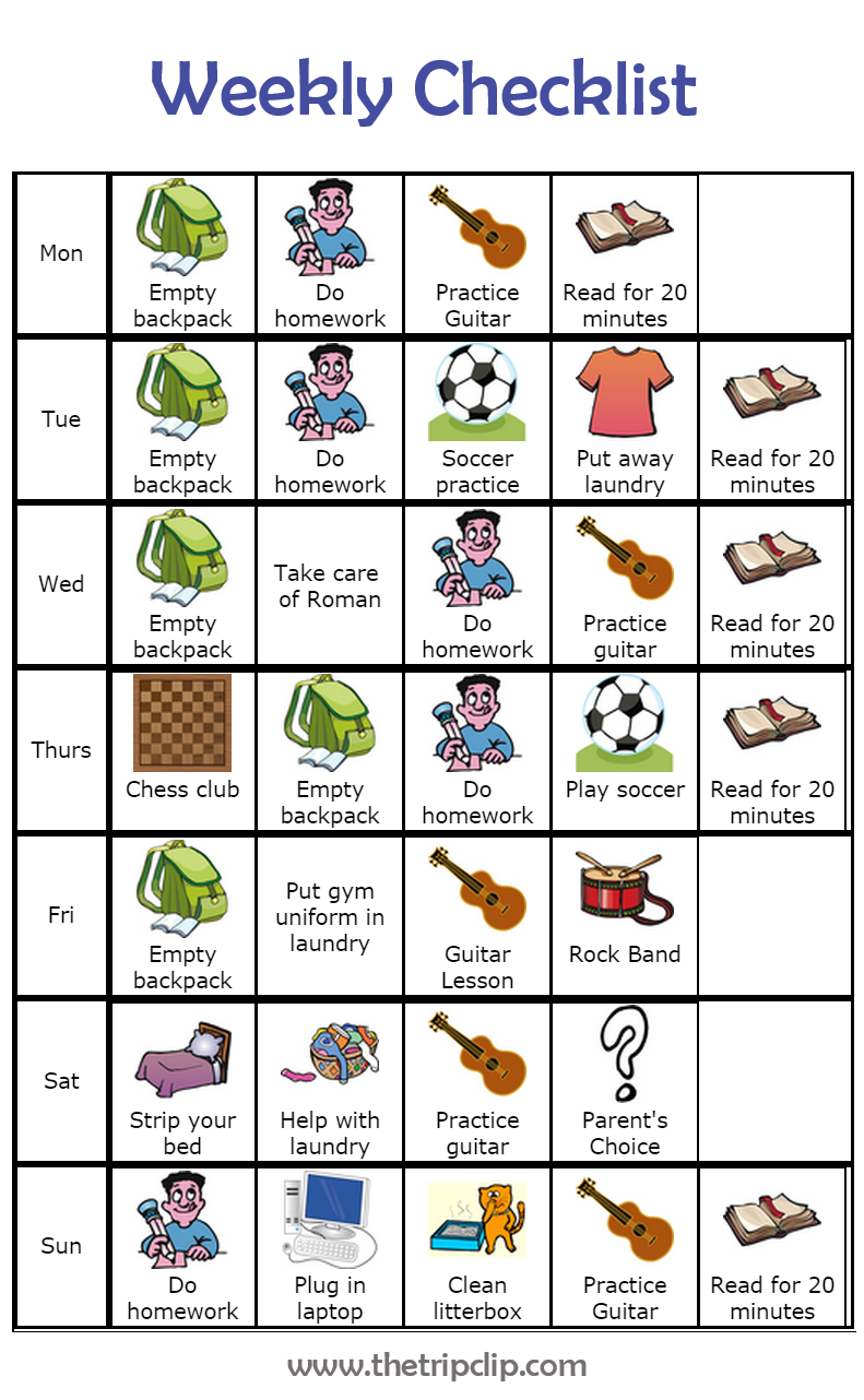 Make Your Own After School Checklist PLUS lots of other ...
