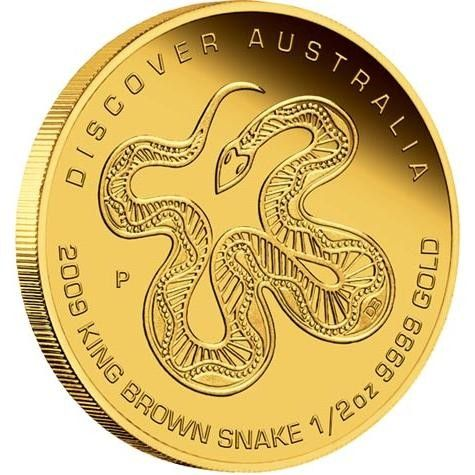 Discover Australia 2009 Dreaminga King Brown Snake 1 2oz Gold And Silver Coins Gold Bullion Bars Gold Coins