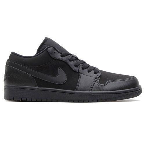 Sepatu Casual Nike Air Jordan 1 Low 553558 011 Black Adalah Produk