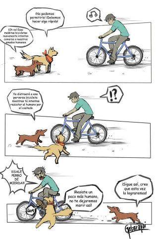 Salvemos a los pobres humanos de las malvadas bicis!!! ROLF!!!