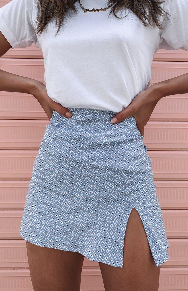 Laura Skirt Blue Floral
