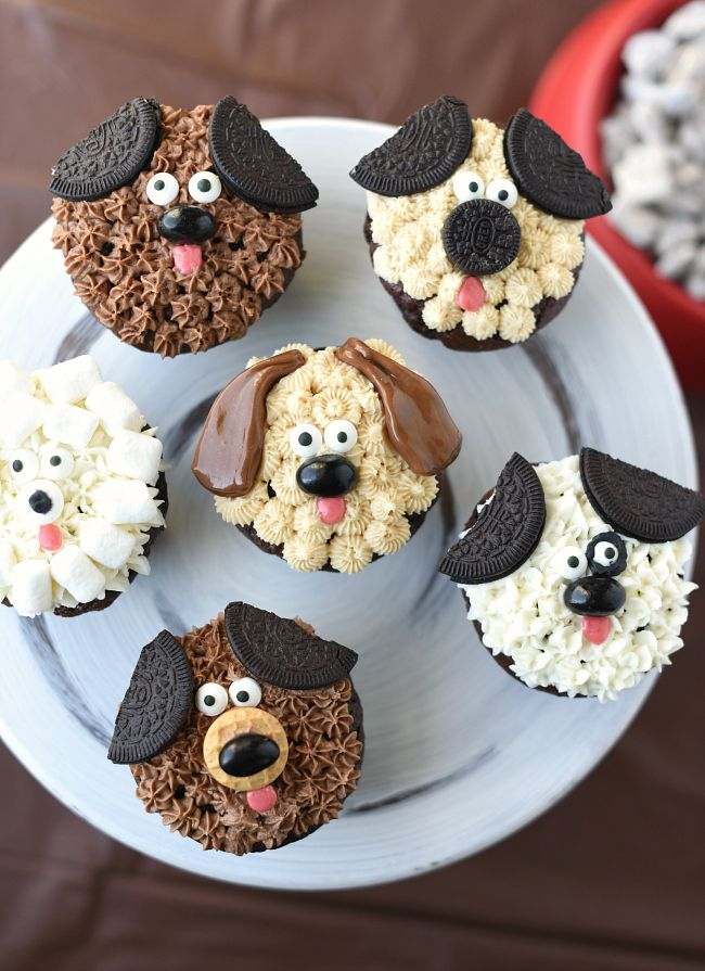 Cool Puppy Dog Cupcakes Recipe Dog Cupcakes Puppy Cupcakes Puppy Personalised Birthday Cards Cominlily Jamesorg