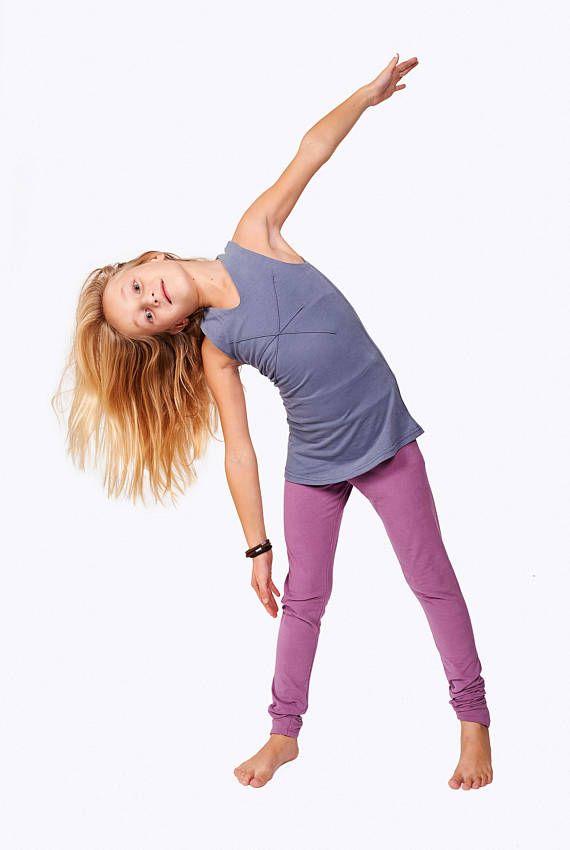 cf4949496 Little Girl Leggings, Kids Leggings, Children Sport Clothing, Girl Yoga  Leggings, Purple Girls Leggi