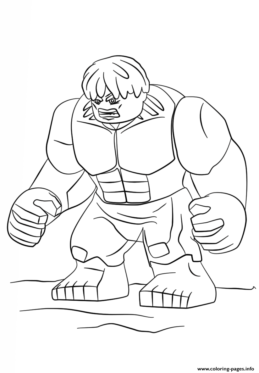 Lego Marvel Coloring Pages To Download And Print For Free: Print Lego Hulk Coloring Pages